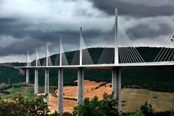 Wall Art - Photograph - Millau Viaduct by Patrick Landmann/science Photo Library