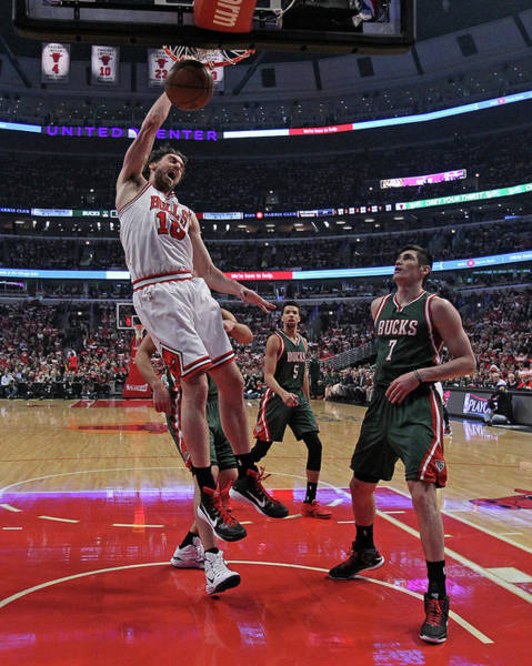 Chicago Photograph - Milwaukee Bucks V Chicago Bulls - Game by Jonathan Daniel
