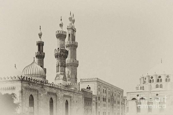 Photograph - Minarets Of Al Azhar Mosque In Cairo by Paul Cowan