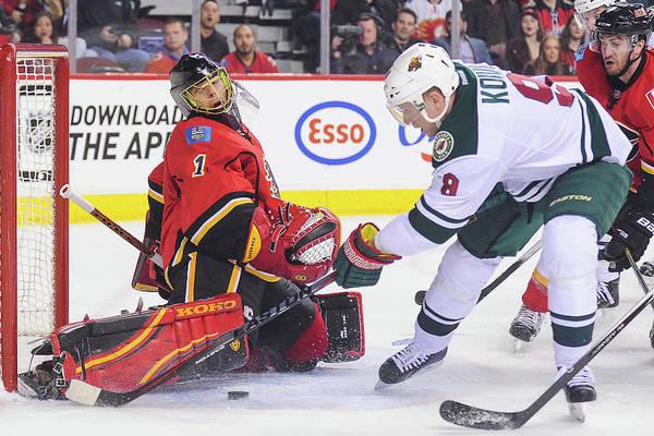 National Hockey League Photograph - Minnesota Wild V Calgary Flames by Derek Leung