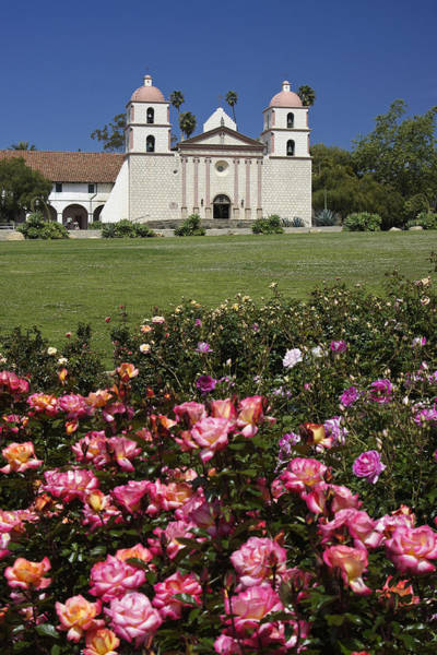 Mission Santa Barbara Photograph - Mission Santa Barbara by Michele Burgess