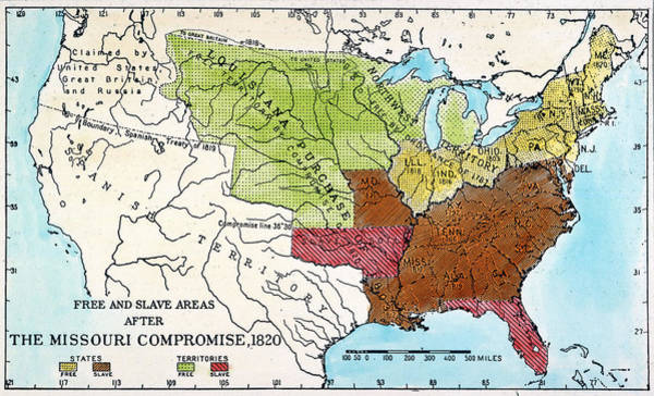 Louisiana Purchase Painting - Missouri Compromise, 1820 by Granger