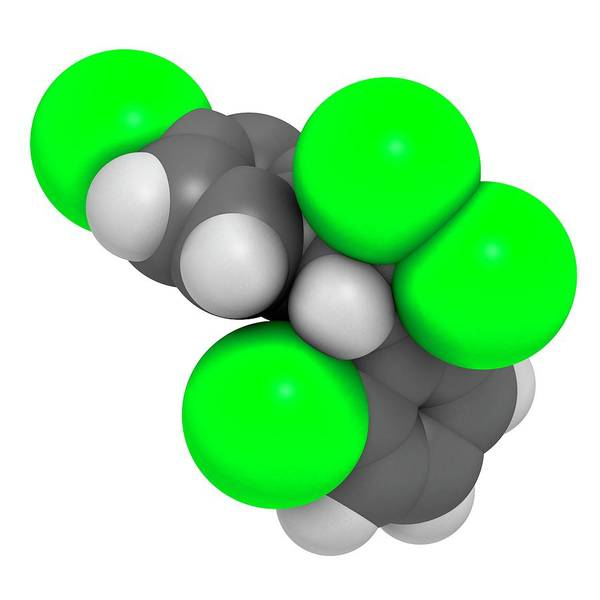 3d Model Photograph - Mitotane Cancer Drug Molecule by Molekuul