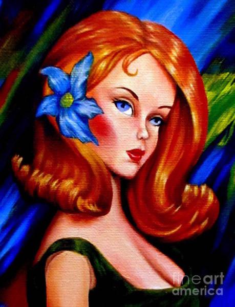 Mod Barbie Redhead Art Print