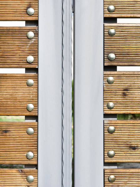 Metal Furniture Photograph - Modern Gate by Tom Gowanlock