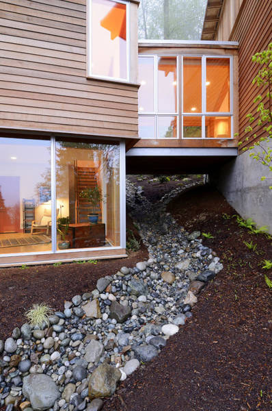 Abode Photograph - Modern House Over Rocky Creek by Will Austin