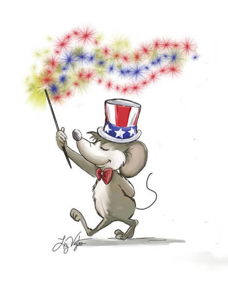 Cookout Digital Art - Moe's Happy 4th Of July by Liz Viztes