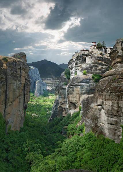 Greece Photograph - Monastery In The Meteora, Greece by Ed Freeman