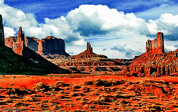 Nadine Painting - Monument Valley Painting by Bob and Nadine Johnston