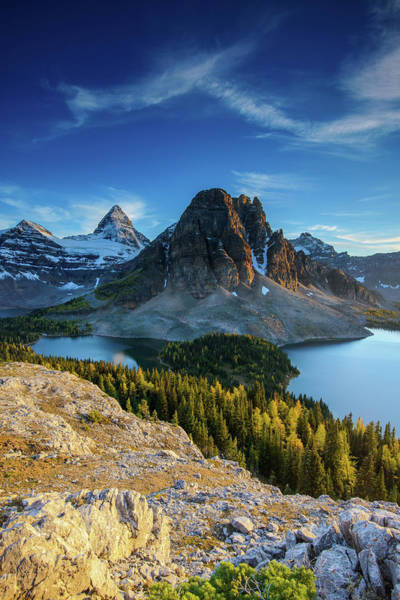 Canmore Photograph - Mount Assiniboine by Piriya Photography