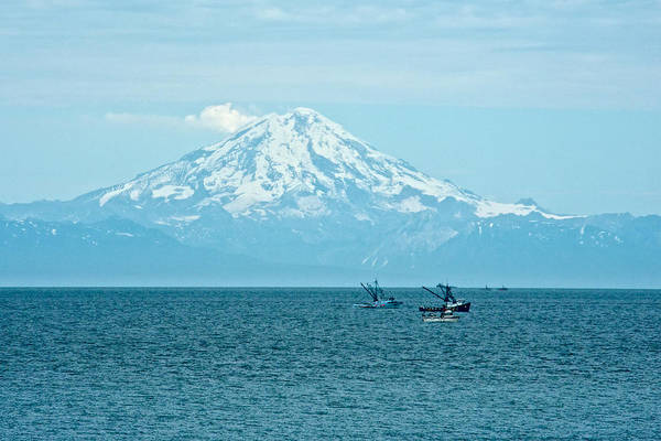 Mount Redoubt Photograph - Mount Redoubt Across Cook Inlet From Ninilchik-ak   by Ruth Hager