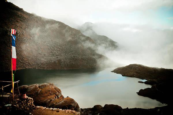 Wall Art - Photograph - Mountain Lake Bhairav Himalayas by Raimond Klavins