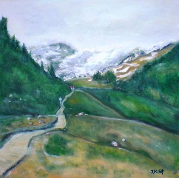 Wall Art - Painting - Mt. Rainier by Jennifer Kwon
