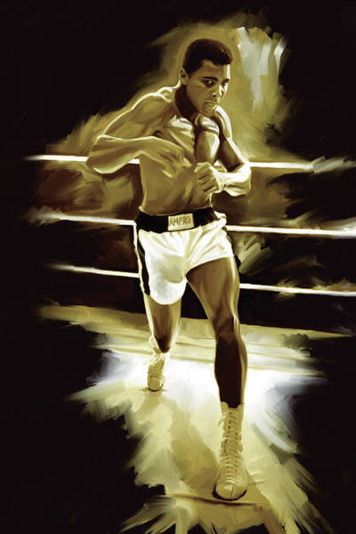 Boxing Painting - Muhammad Ali Boxing Artwork by Sheraz A