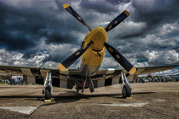 Fighter Plane Photograph - Mustang by Martin Newman