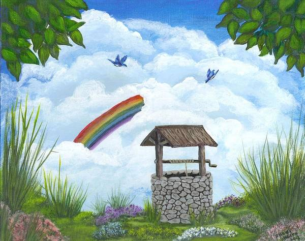 Wishing Well Painting - My Wishing Place by Sheri Keith