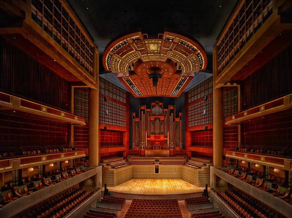 Center Stage Photograph - Myerson Symphony Center Auditorium - Dallas by Mountain Dreams