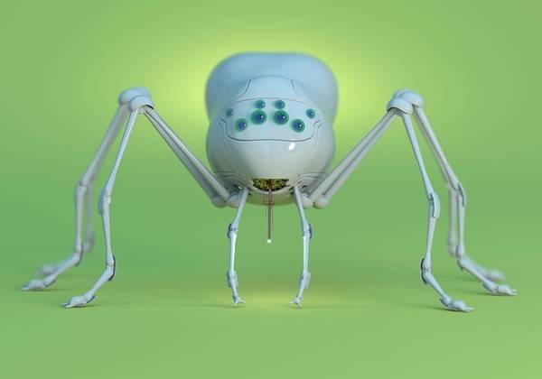 Nano-technology Wall Art - Photograph - Nanobot Spider by Tim Vernon