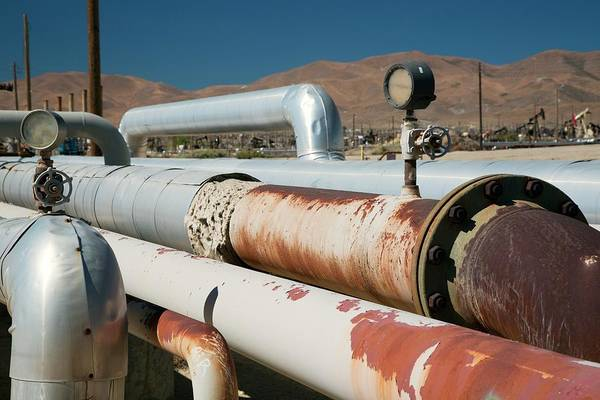 San Joaquin Valley Photograph - Natural Gas Pipelines by Jim West