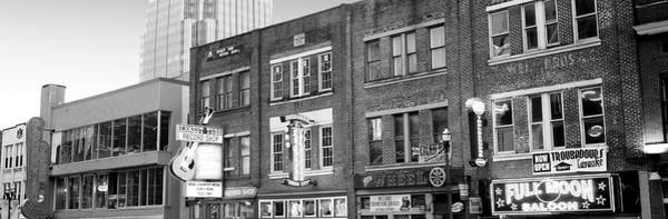 Wall Art - Photograph - Neon Signs On Buildings, Nashville by Panoramic Images