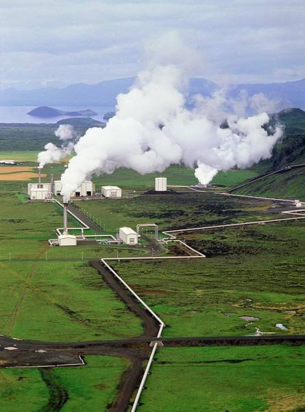 Geothermal Photograph - Nesjavellir Power Station by Simon Fraser/science Photo Library