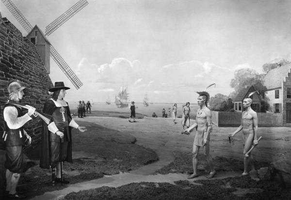 Delegation Photograph - New Amsterdam, 1660 by Granger