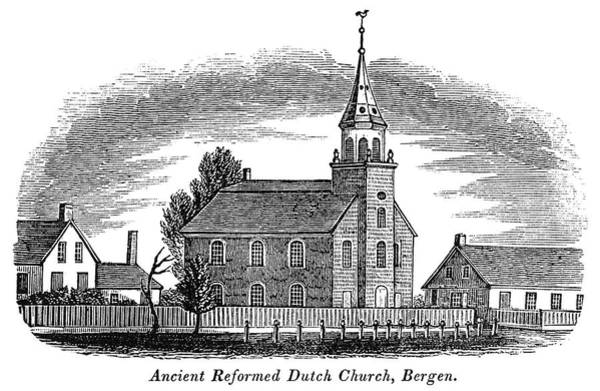 Painting - New Jersey Church, 1844 by Granger