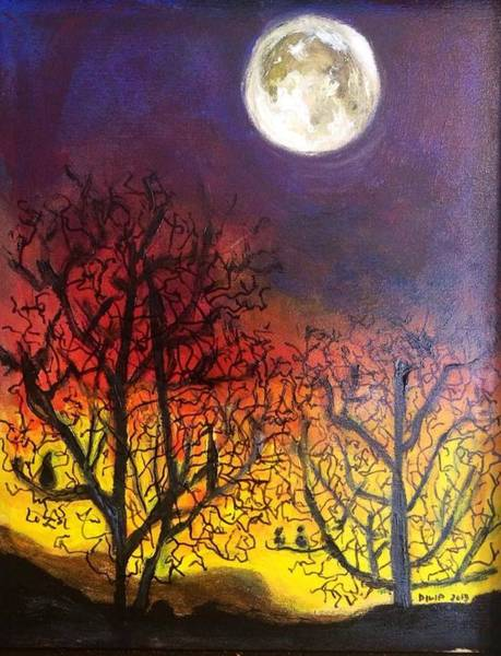 Painting - New Moon by Dilip Sheth