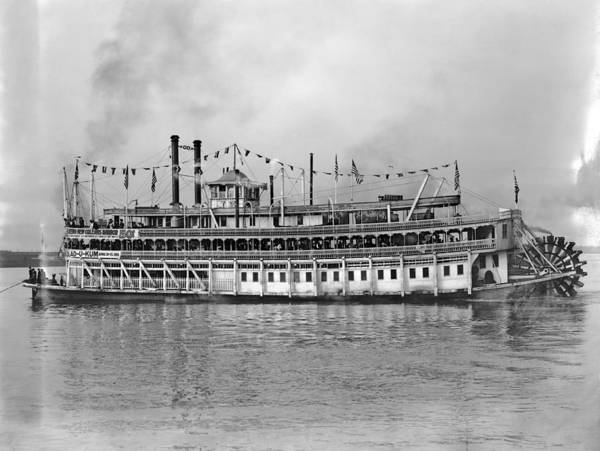 Wall Art - Photograph - New Orleans Steamboat by Granger