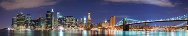 Photograph - New York City Manhattan Skyline Panorama by Songquan Deng