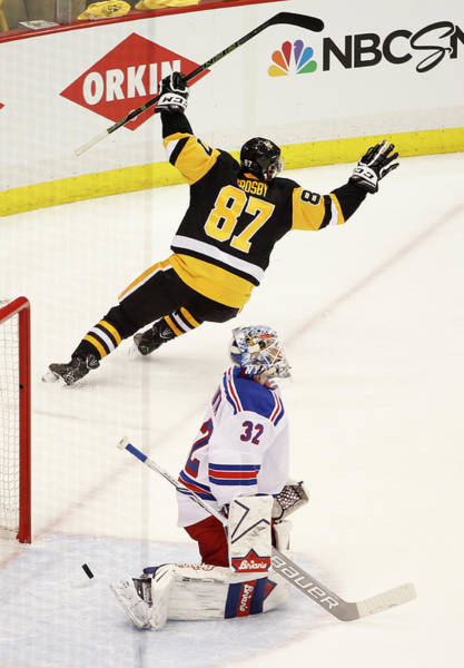 Stanley Cup Playoffs Photograph - New York Rangers V Pittsburgh Penguins by Justin K. Aller