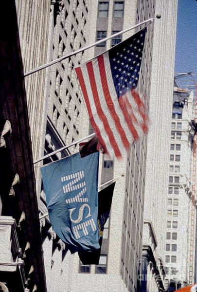 Empire Mixed Media - New York Stock Exchange by Jon Neidert