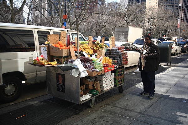 Photograph - New York Street Vendor 3 by Frank Romeo
