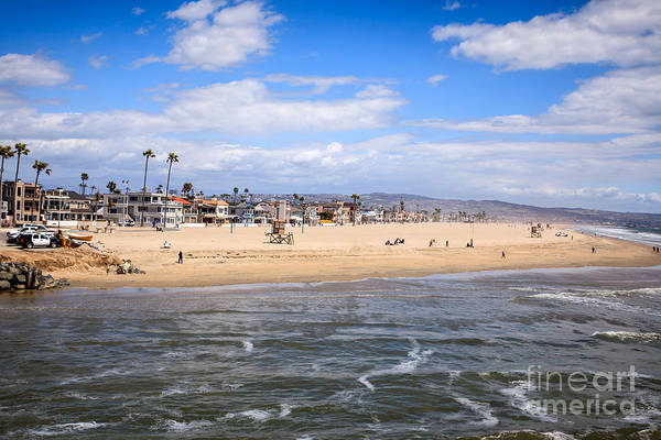 Oceanfront Photograph - Newport Beach In Orange County California by Paul Velgos
