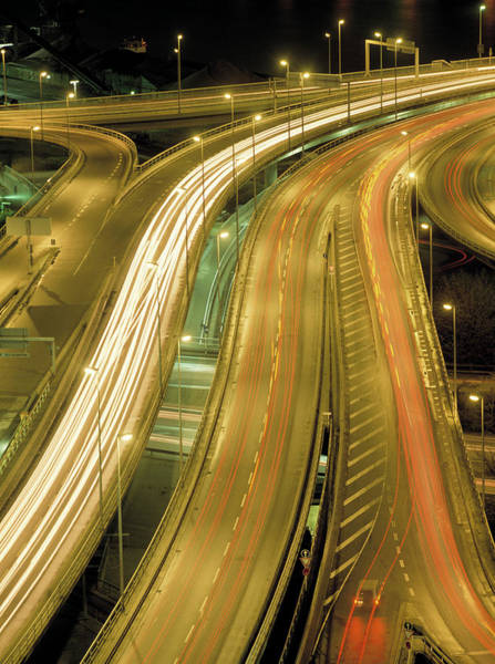 Wall Art - Photograph - Night-time Traffic by Maximilian Stock Ltd/science Photo Library