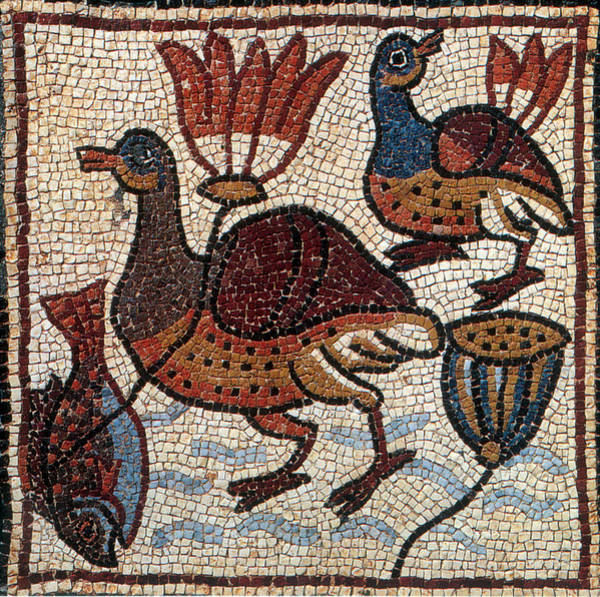 Photograph - Nile Fauna, Byzantine Mosaic, 6th by Science Source