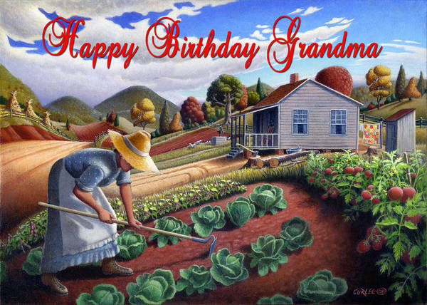 Alabama Painting - no13A Happy Birthday Grandma by Walt Curlee