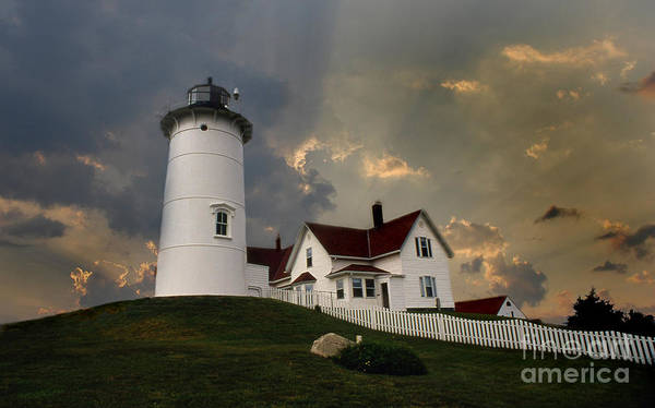 Scenic Byway Photograph - Nobska Lighthouse Color  by Skip Willits