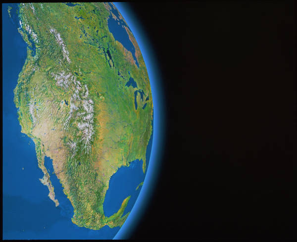Western Pacific Photograph - North America by Copyright Tom Van Sant/geosphere Project, Santa Monica/science Photo Library