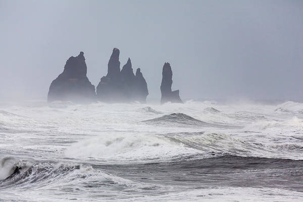 Basalt Photograph - North Atlantic Coast Near Vik Y Myrdal by Martin Zwick
