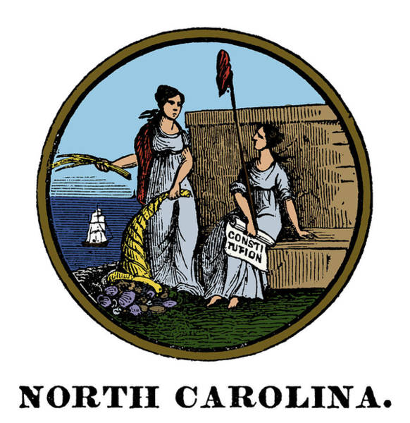 Painting - North Carolina State Seal by Granger