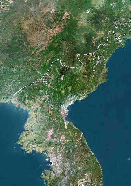 Wall Art - Photograph - North Korea by Planetobserver/science Photo Library