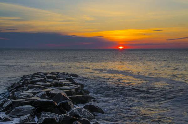 Jetti Wall Art - Photograph - North Wildwood Sunrise by Bill Cannon