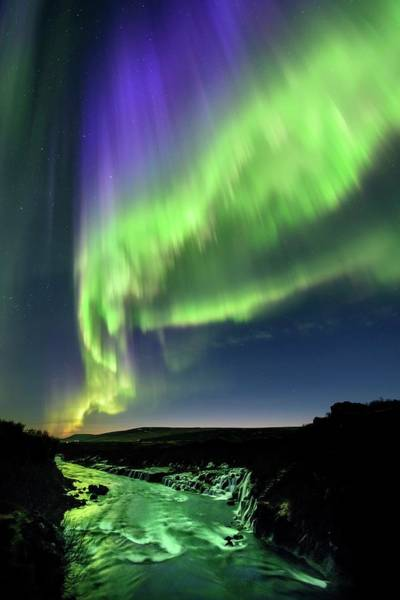 Wall Art - Photograph - Northern Lights Over Hvita River by Babak Tafreshi/science Photo Library