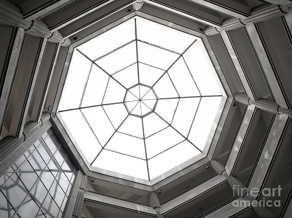 Trapeze Photograph - Octagon Skylight by Yali Shi