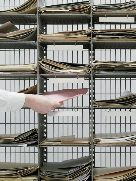 Rack Photograph - Office Pigeon Holes by Howard George/science Photo Library