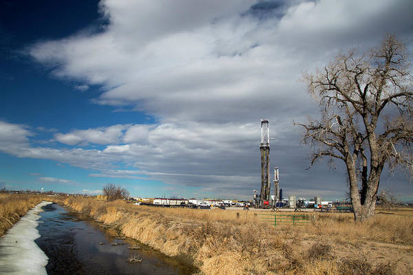 Drilling Rig Photograph - Oil Drilling Rig by Jim West