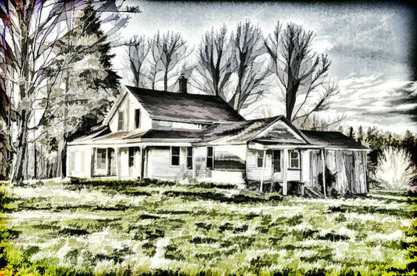Photograph - Old Farm House by Jim Lepard