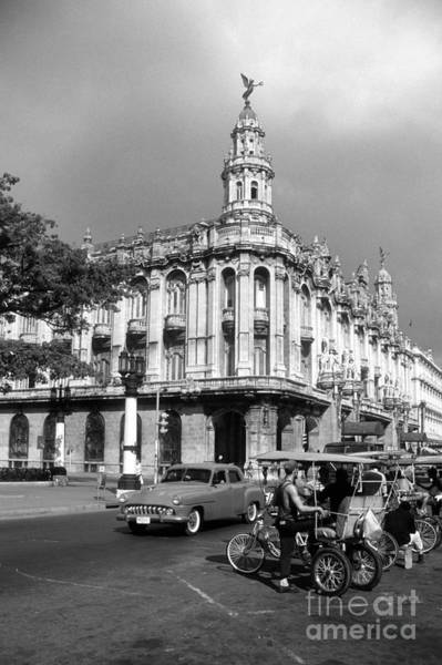 Prado Photograph - Paseo Del Prado And Grand Theater Havana by James Brunker