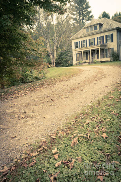 Driveway Photograph - Old House On The Hill by Edward Fielding
